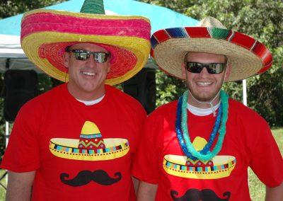 Cinco de Mayo sombreros on members heads