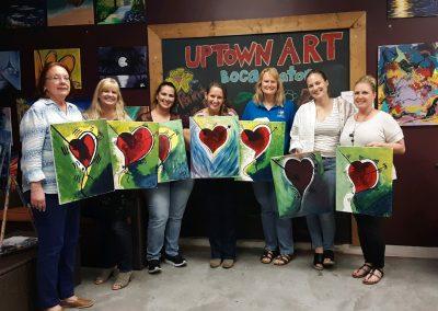Finance Team Paintings on Paint Night