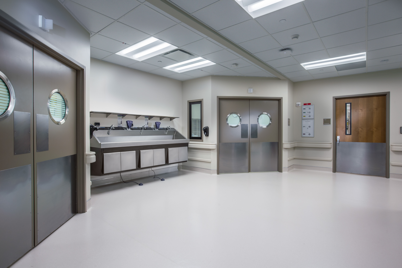 Double doors in medical center