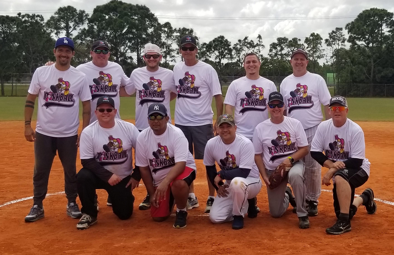 Pink Ball softball tournament LCF team members