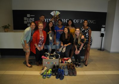 LCF employees helping with Shoe Drive