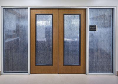 Translucent sliding doors in Cypress Creek Medical Pavilion