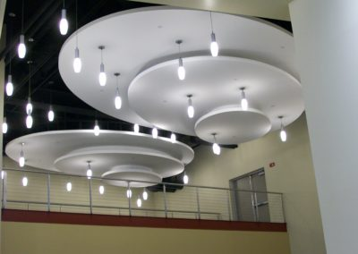 Calvary Christian Academy acoustical ceiling and lights