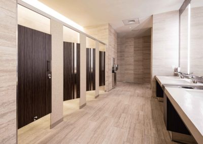 Seminole Hard Rock Casino bathroom stalls and sinks