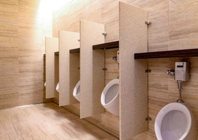 Seminole Hard Rock Casino urinals on wall